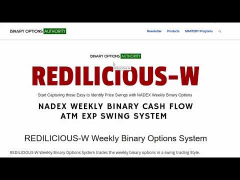 REDILICIOUS W Weekly Binary Options System Review and Overview
