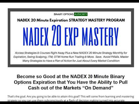 Become so Good at the NADEX 20 Minute Binary Options Expiration that You Have…