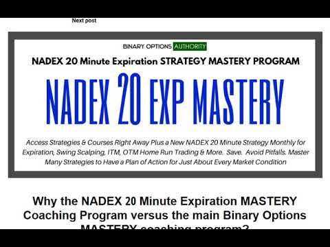 Why the NADEX 20 Minute Expiration MASTERY Coaching Program versus the main Binary MASTERY Program?