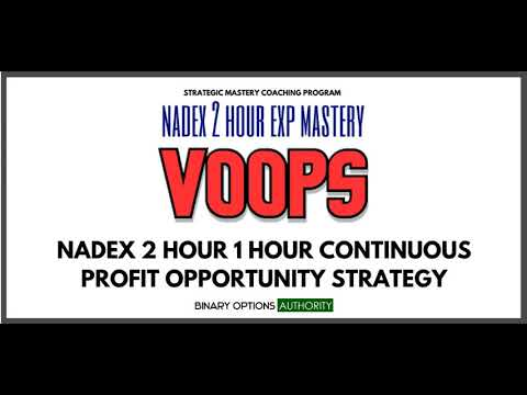 VOOPS NADEX 2 Hour 1 Hour Cash Flow Strategy & System More Info